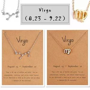 Virgo Zodiac Sign and Constellation Necklace Duo